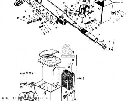 Kawasaki 1971 F6 parts list partsmanual partsfiche