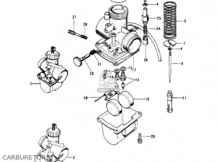 Kawasaki 1974 H2-b Mach Iv parts list partsmanual partsfiche