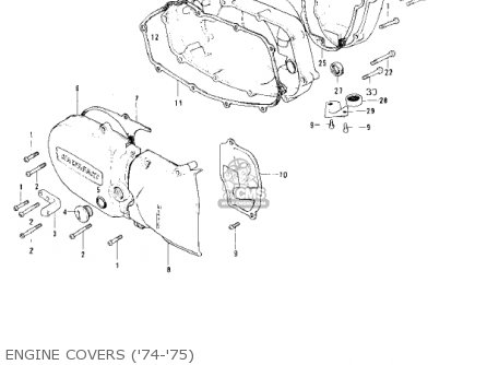 Kawasaki 1974 Ks125 parts list partsmanual partsfiche