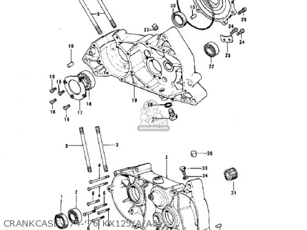 Kawasaki 1974 Kx125 parts list partsmanual partsfiche