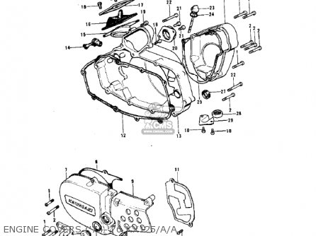 Kawasaki 1974 Kx125 parts list partsmanual partsfiche