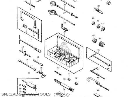 Kawasaki 1974 Kz400 parts list partsmanual partsfiche