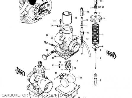 Kawasaki 1975 F11-b parts list partsmanual partsfiche