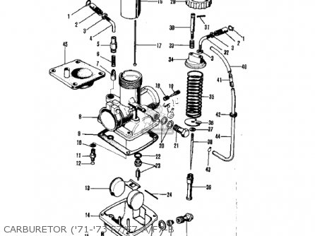 Kawasaki 1975 F7-d parts list partsmanual partsfiche