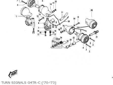 Kawasaki 1975 G4tr-e parts list partsmanual partsfiche