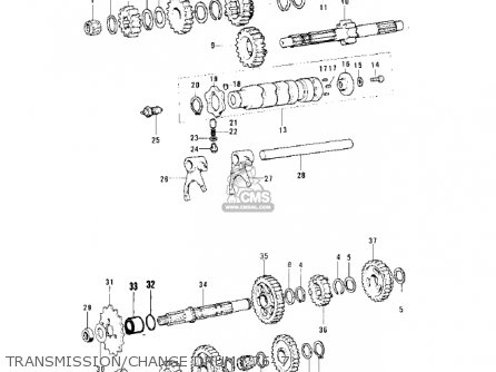 Kawasaki 1975 Ks125-a parts list partsmanual partsfiche