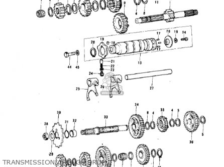 Kawasaki 1975 Kx125-a parts list partsmanual partsfiche