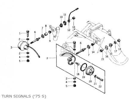 Kawasaki 1975 Kz400-s Special parts list partsmanual