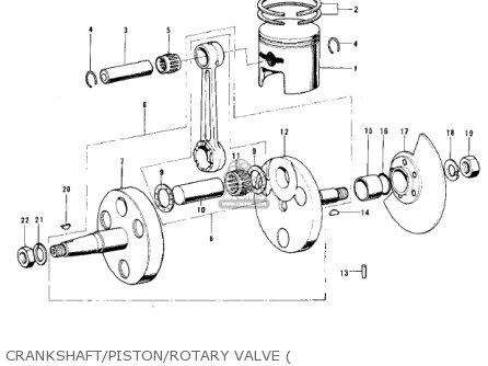 Kawasaki 1975 Mc1-b parts list partsmanual partsfiche