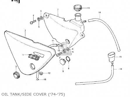 Kawasaki 1976 Ke125-a3 Ke125 parts list partsmanual partsfiche