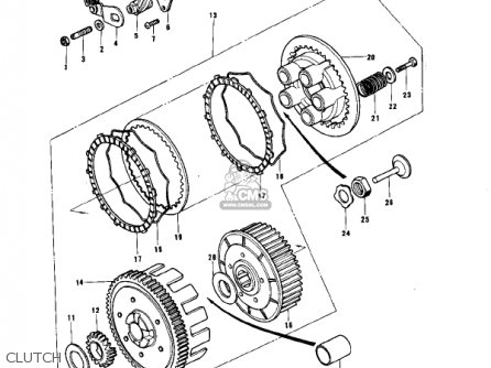 Kawasaki 1976 Ke175-b1 Ke175 parts list partsmanual partsfiche