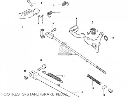 Kawasaki 1976 Kt250-a2 Trial parts list partsmanual partsfiche