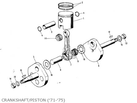 Kawasaki 1976 Kv75-a5 parts list partsmanual partsfiche