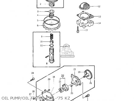 Kawasaki 1976 Kz400-d3 parts list partsmanual partsfiche