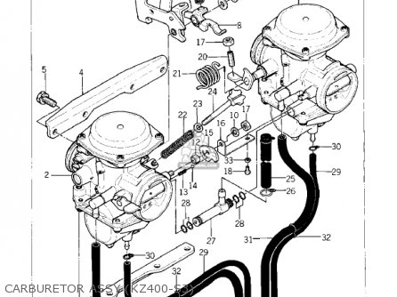 Kawasaki 1976 Kz400-s2 Special parts list partsmanual
