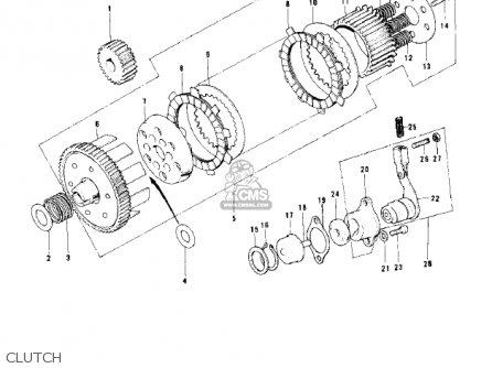 Kawasaki 1977 Kd100-m2 parts list partsmanual partsfiche