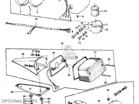 Kawasaki 1977 Kd125-a3 parts list partsmanual partsfiche