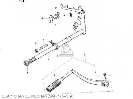 Kawasaki 1977 Ke125-a4 Ke125 parts list partsmanual partsfiche
