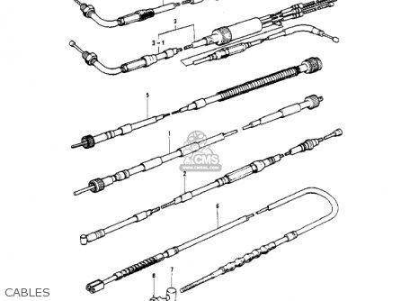Kawasaki 1977 Kh400-a4 parts list partsmanual partsfiche