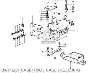 Kawasaki 1977 Kz1000-b1 Kz1000 Ltd parts list partsmanual