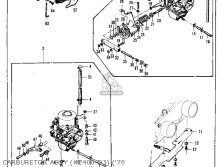 Kawasaki 1977 Kz400-d4 parts list partsmanual partsfiche