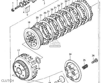 Kawasaki 1977 Kz650-c1 Custom parts list partsmanual