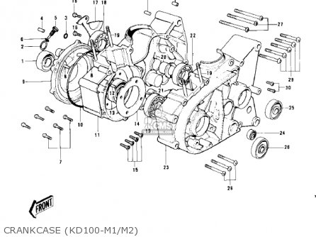Kawasaki 1978 Kd100-m3 parts list partsmanual partsfiche