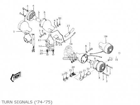 Kawasaki 1978 Ke125-a5 Ke125 parts list partsmanual partsfiche