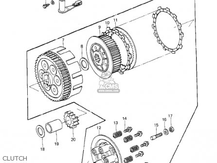 Kawasaki 1978 Ke250-b2 parts list partsmanual partsfiche