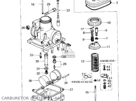 Kawasaki 1978 Km100-a3 parts list partsmanual partsfiche