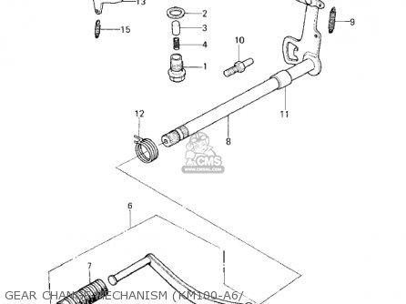 Kawasaki 1978 Km100-a3 parts list partsmanual partsfiche