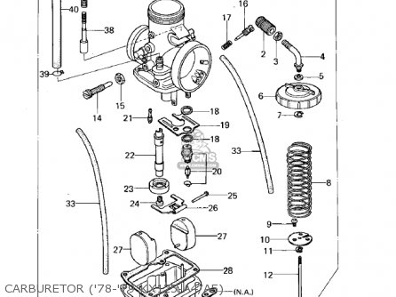 Kawasaki 1978 Kx125-a4 parts list partsmanual partsfiche