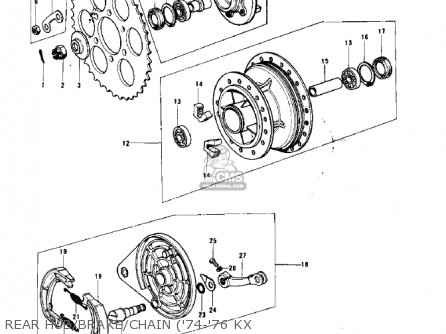 Kawasaki 1978 Kx125-a4 parts list partsmanual partsfiche