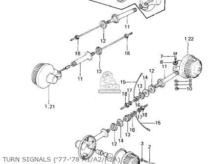 Kawasaki 1978 Kz1000-a2 Kz1000 parts list partsmanual