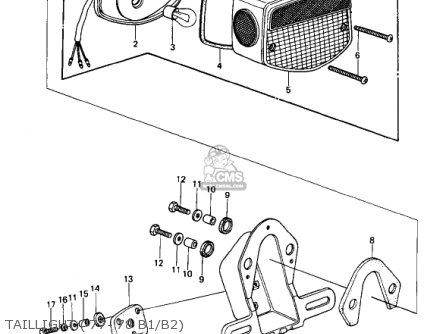 Kawasaki 1978 Kz1000-b2 Kz1000 Ltd parts list partsmanual