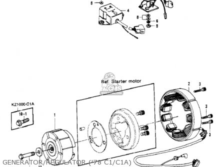 Kawasaki 1978 Kz1000-c1 Police 1000 parts list partsmanual