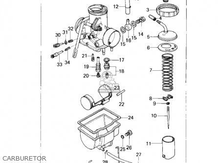 Kawasaki 1978 Kz200-a1 parts list partsmanual partsfiche