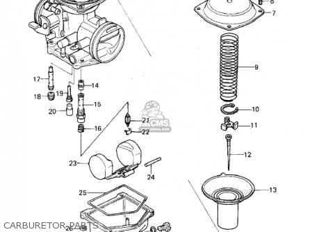 Kawasaki 1978 Kz400-b1 parts list partsmanual partsfiche