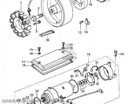 Kawasaki 1978 Kz400-b1 parts list partsmanual partsfiche