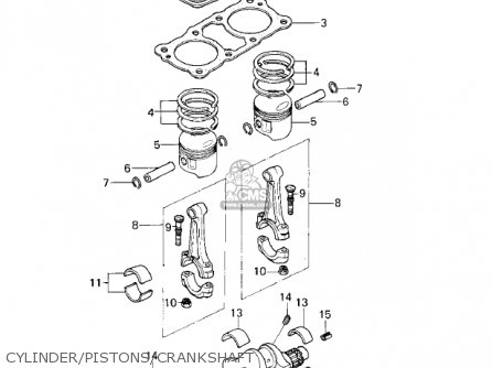 Kawasaki 1978 Kz400-c1 parts list partsmanual partsfiche