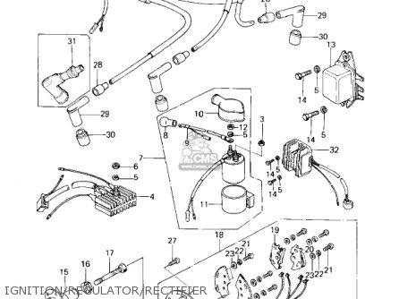 Kawasaki 1978 Kz650-c2 Custom parts list partsmanual