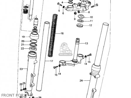 Kawasaki 1978 Kz650-d1 Sr parts list partsmanual partsfiche