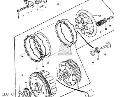 Kawasaki 1979 Kd175-a4 parts list partsmanual partsfiche
