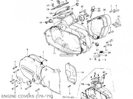 Kawasaki 1979 Ke125-a6 Ke125 parts list partsmanual partsfiche