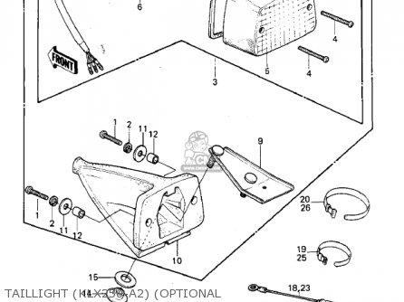 Kawasaki 1979 Klx250-a1 Klx250 parts list partsmanual