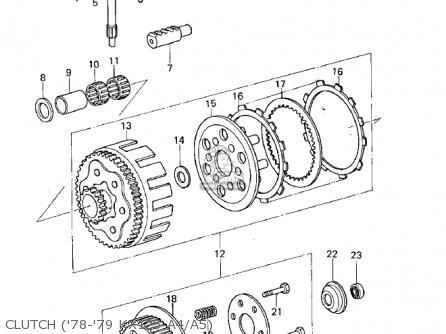 Kawasaki 1979 Kx125-a5 parts list partsmanual partsfiche