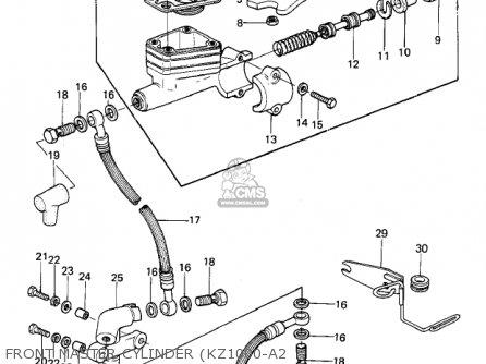 Kawasaki 1979 Kz1000-a3 Kz1000 parts list partsmanual