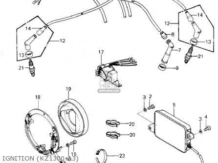 Kawasaki 1979 Kz1300-a1 parts list partsmanual partsfiche