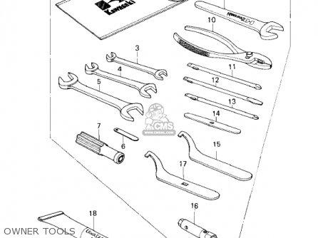 Kawasaki 1979 Kz200-a2 parts list partsmanual partsfiche