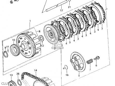 Kawasaki 1979 Kz400-h1 parts list partsmanual partsfiche